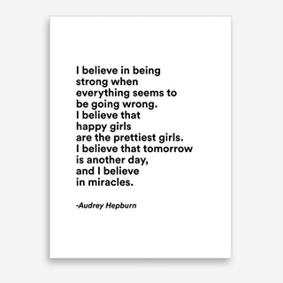 Happy Girls By Audrey In Modern Font Art Print