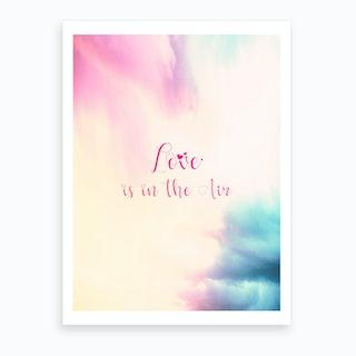 Love Is In The Air   Vertical Art Print
