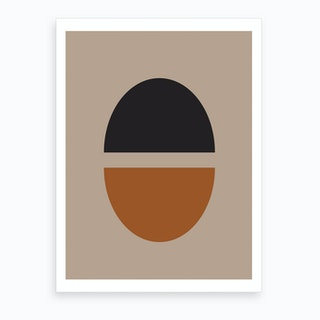 Tan Abstract Art Print