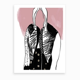 Abstract Alexander Wang Art Print