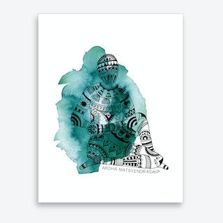 Yoga 01  Art Print