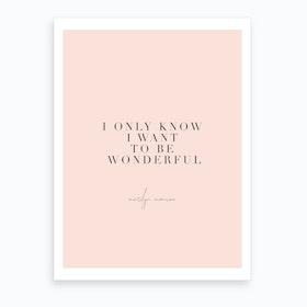 Marilyn Monroe Quote Art Print