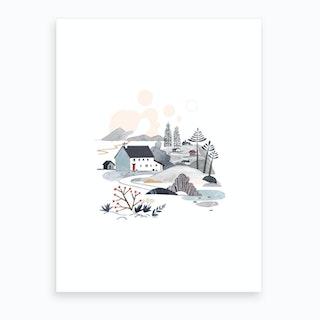 Cosy Cottages Art Print