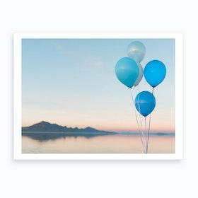 Balloons Over Bonneville  Art Print