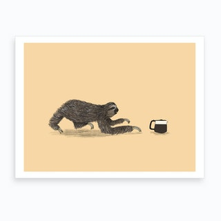 Crawl To The Coffee Art Print