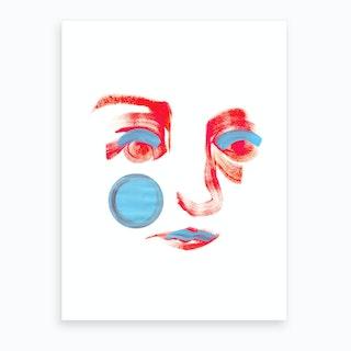 Pink Mona Lisa Smile Art Print