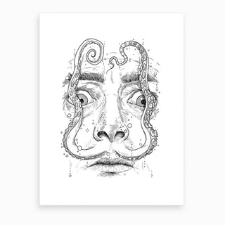 Octopus Dali Art Print