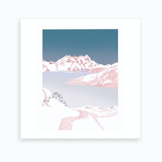 Mountain Love   Slopes Art Print