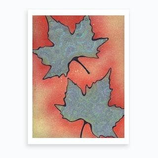 Autumn Drawing Meditation Art Print