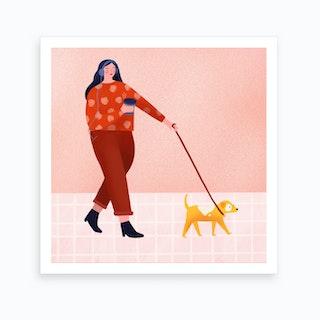 Dog Walk Art Print