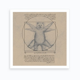 Vitruvian Bear Art Print