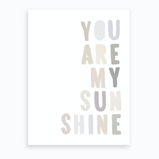 You Are My Sunshine Lyrics   Pastel Art Print