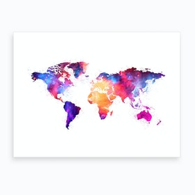 Artistic World Map V Art Print