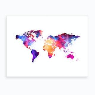 Artistic World Map V Art Print
