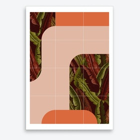 Mid Century Tropical Style Art Print