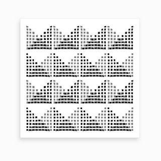 Edith Block Print In Black And White Art Print