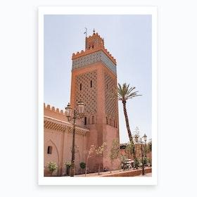 Moroccan Mosque Marrakech Art Print