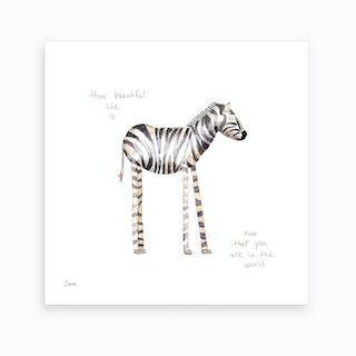 Zebra Love   Art Print