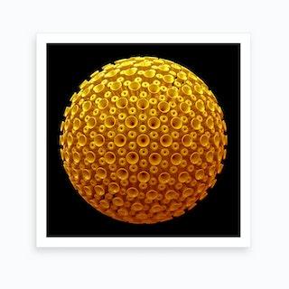 Spicky Virus Particle Type 4 Art Print