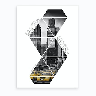 New York City Times Square Coordinates Art Print