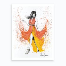 Coral Zephyr Art Print
