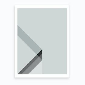Crisp Angles In Space Art Print