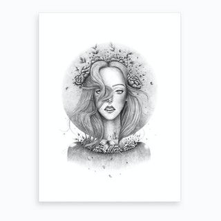 Blooming Girl Art Print