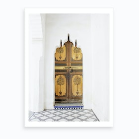 Moroccan Wood Door Art Print