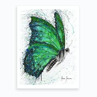 Emerald City Butterfly Art Print
