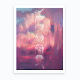 Moontime Glitches Art Print