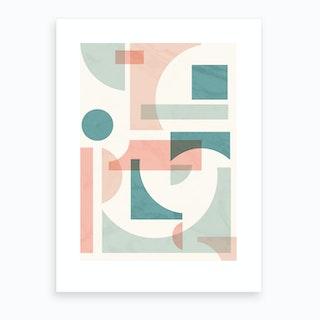 Subtle Geo2 Art Print
