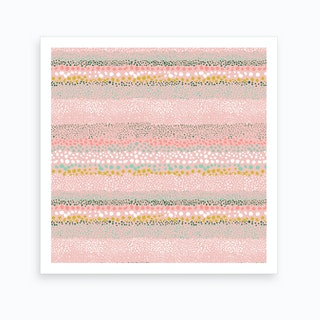 Little Textured Minimal Dots Pink Art Print