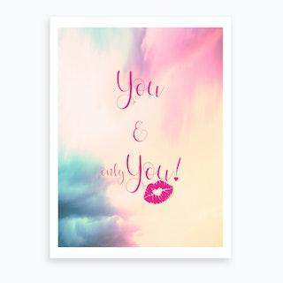 You & You {}   Vertical Art Print