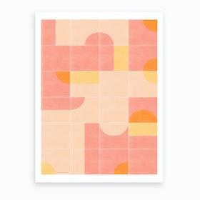 Retro Tiles 02 Art Print