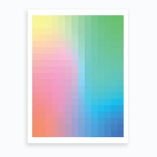 Gradientblocks 4 Art Print