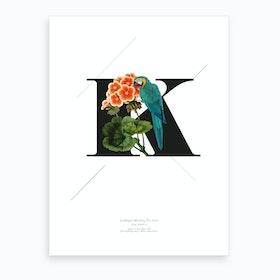 Botanical Alphabet K Art Print