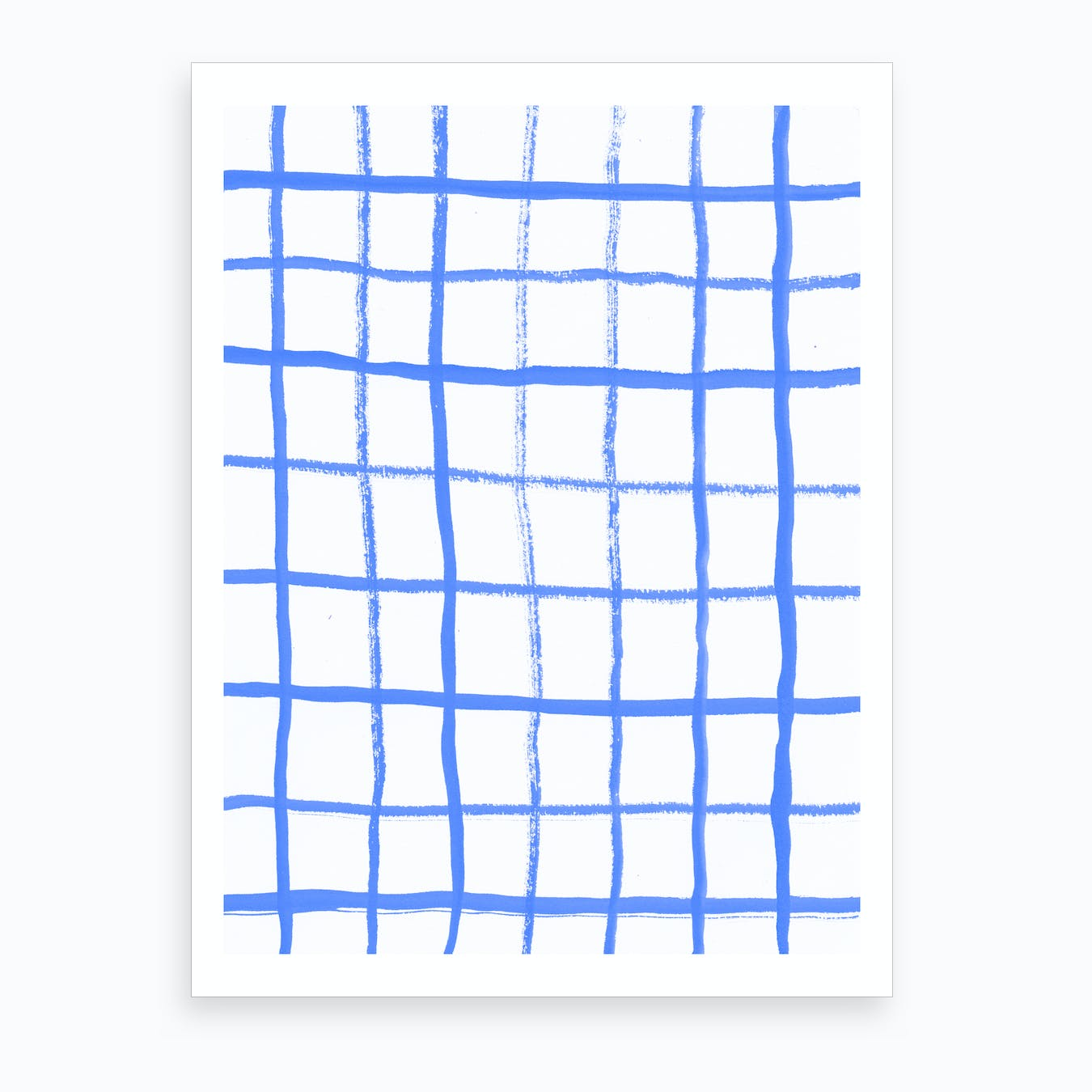 Grid Blue Windowpane Art Print