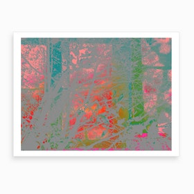 Red Sky At Night Abstract Landscape Art Print
