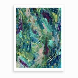 Greenery Clutter 4 Art Print