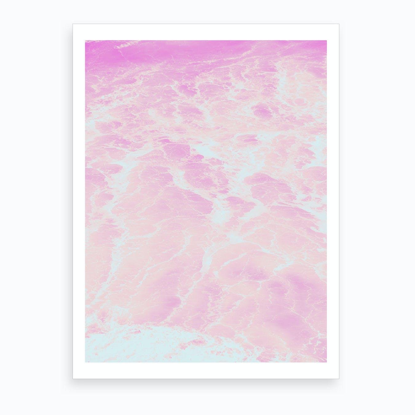 Pink Mint Waves Art Print