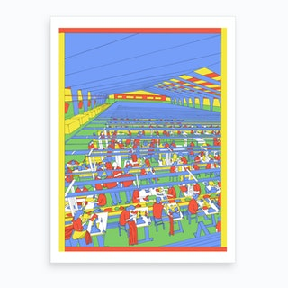 Cambodian Textile Factory Art Print