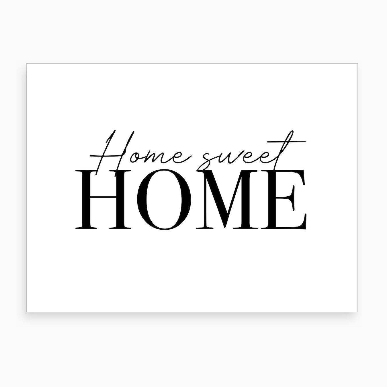 Home Sweet Home Cute Art Print By Mambo Fy