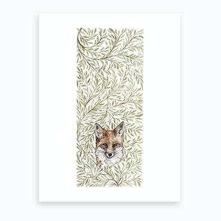 Hedgerowfox  Art Print