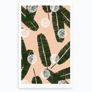 Wrong Palms & Dots Art Print