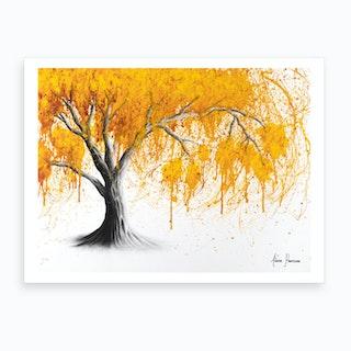 Rusting Desert Tree Art Print