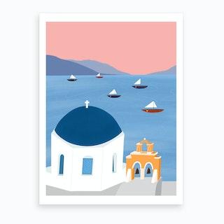 Dreamy Summer View Art Print