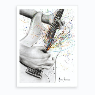 The Guitar Solo Art Print