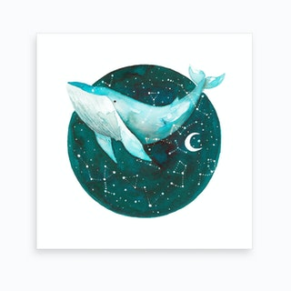 Cosmic Whale 1 Art Print