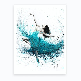 Ballerina Waves  Art Print