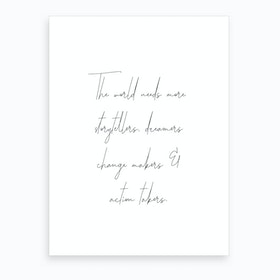 Dreamers Quote Art Print
